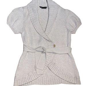 BCBG MAXAZRIA Vapour Short-Sleeved Sweater Size L